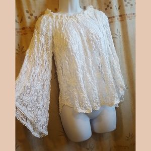 Abercrombie Lace Peasant Top